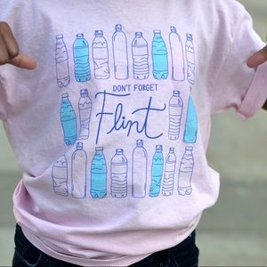 Pink Don't Forget Flint XL Tee